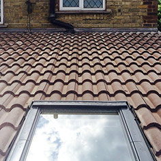 Extension roof tiling