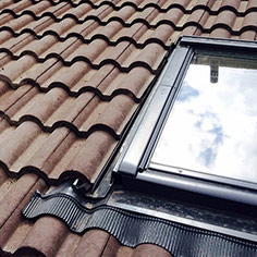 Velux windows on Regent shallow pitch roof detail
