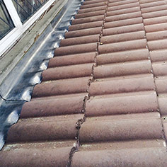Regent roof tiled and lead flashing seal