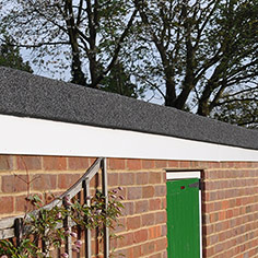 New flat roof facia and sides