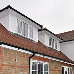 roof, dormers, gutters, facias, soffits and barge boards