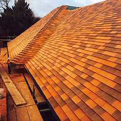 New clay tile roof on barn conversion