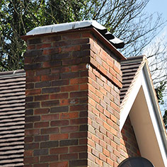 Chimney build, flashing and topping.
