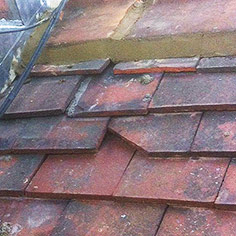 Before tiled roof was repaired